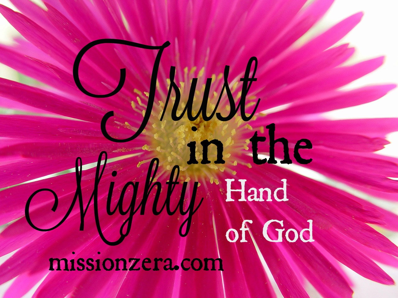 Trust… in the Mighty Hand of God