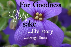 For Goodness Glory Sake! – God is Good (part 1)